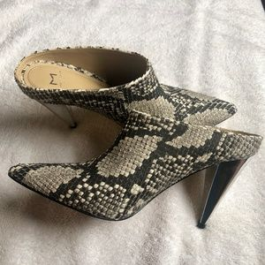 Marc Fisher faux snake skin booties